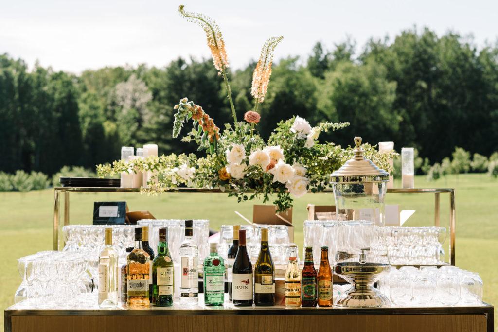 Floral reception bar upcountry venue