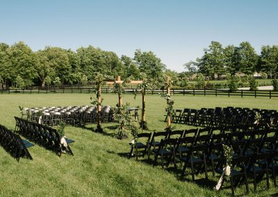Chairs set up for outdoor ceremony at upcountry venues